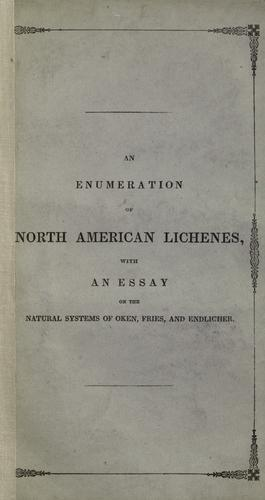 Download An enumeration of North American Lichenes