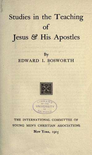 Download Studies in the teaching of Jesus & his Apostles