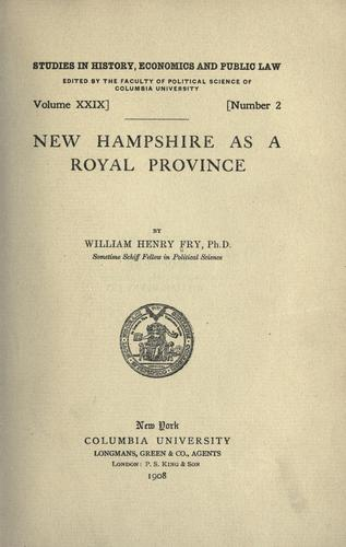 Early New England towns