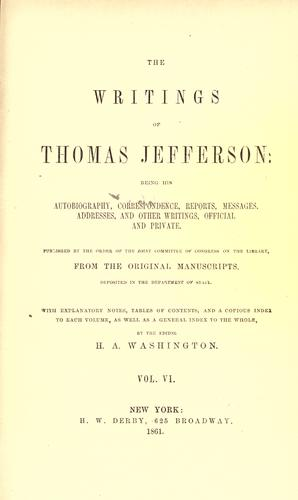 Download The writings of Thomas Jefferson