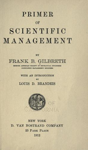 Primer of scientific management.