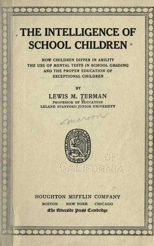 Download The intelligence of school children