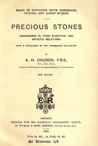 Precious stones considered in their scientific and artistic relations.