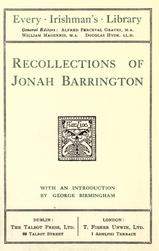 Download Recollections of Jonah Barrington