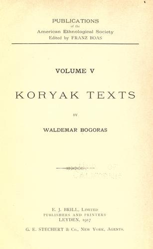 Download Koryak texts