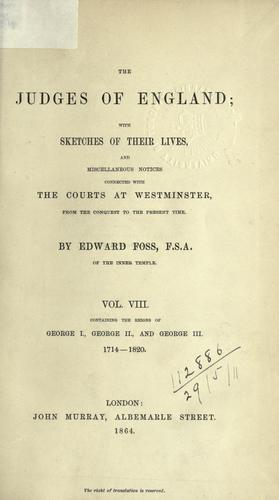 Download The judges of England
