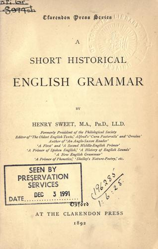 Download A short historical English grammar.