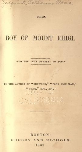 The boy of Mount Rhigi