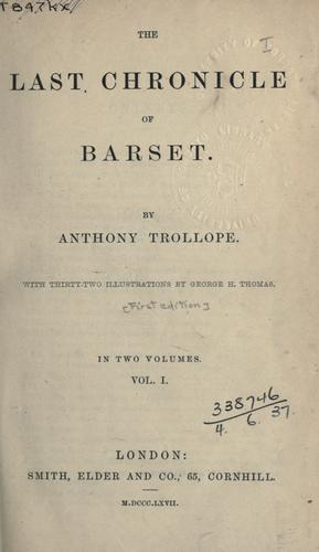 Download The last chronicle of Barset.