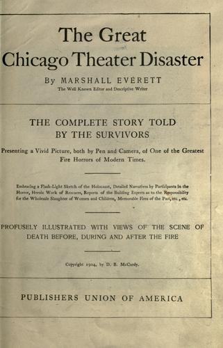 The great Chicago theater disaster