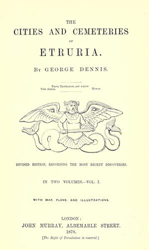 Download The cities and cemeteries of Etruria