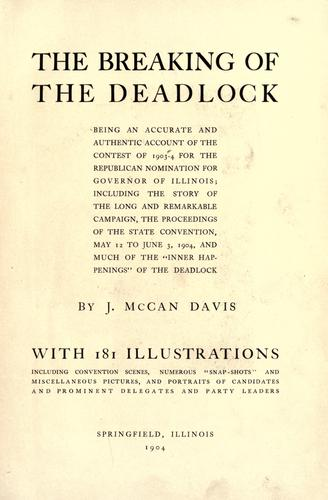 The breaking of the deadlock