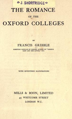 Download The romance of the Oxford colleges