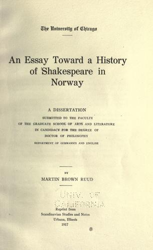 Download An essay toward a history of Shakespeare in Norway …