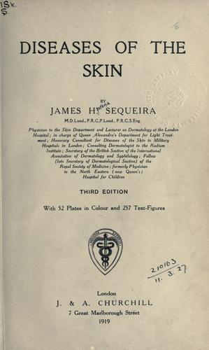 Diseases of the skin.