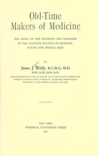 Download Old-time makers of medicine