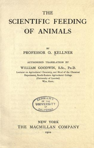 Download The scientific feeding of animals