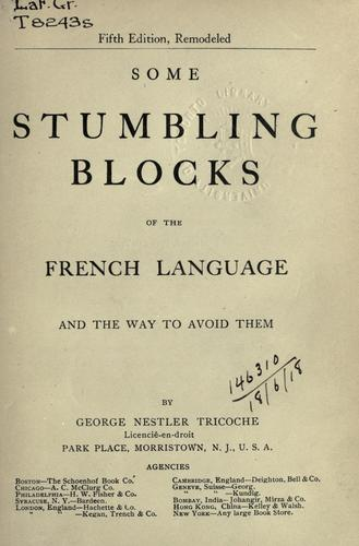 Download Some stumbling blocks of the French language and the way to avoid them.