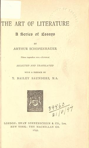 Download The art of literature