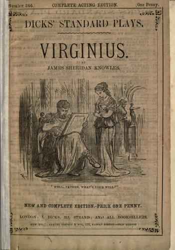 Virginius a tragedy in five acts