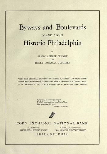 Download Byways and boulevards in and about historic Philadelphia