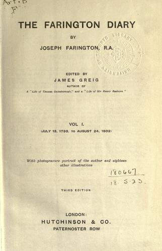 Download The Farington diary