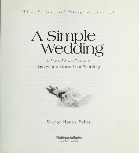 A simple wedding by Sharon Hanby-Robie