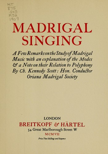 Download Madrigal singing