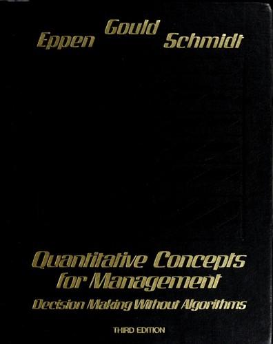 Quantitative concepts for management