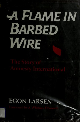 A flame in barbed wire
