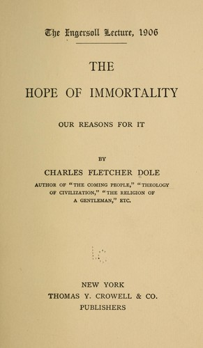 The hope of immortality