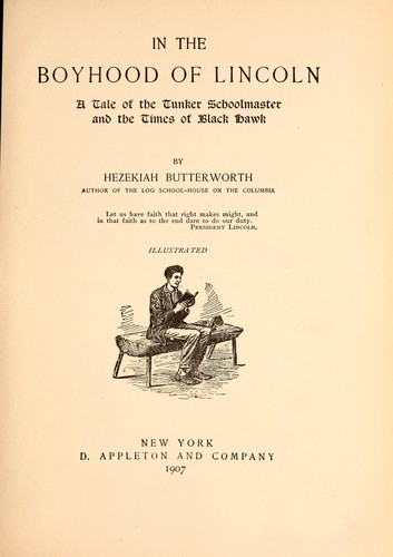 In the boyhood of Lincoln by Hezekiah Butterworth
