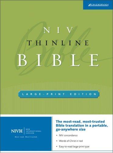 NIV Thinline Large Print Bible (New International Version)