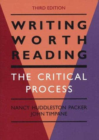 Download Writing worth reading
