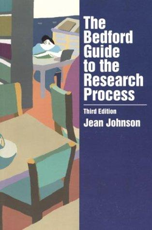The Bedford guide to the research process