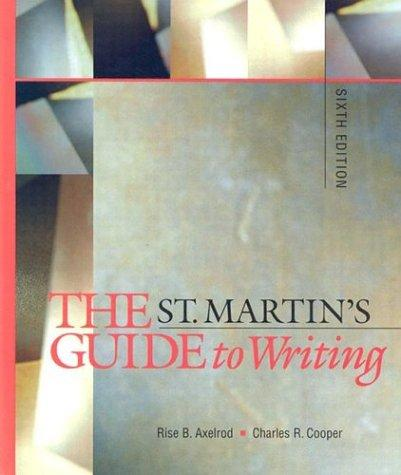 Download The St. Martin's guide to writing