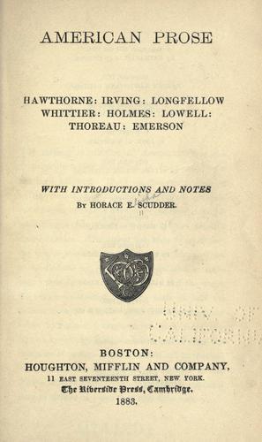 Download American prose