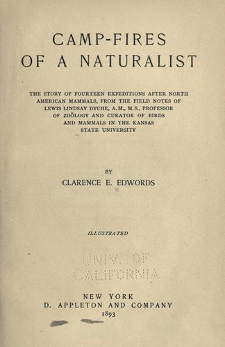 Camp-fires of a naturalist
