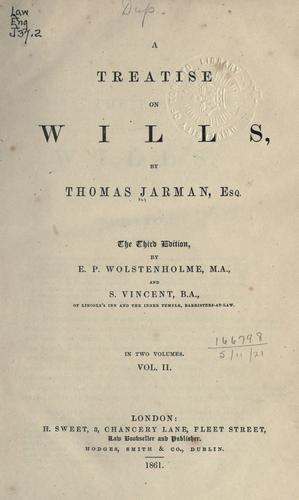 Download A treatise on wills.