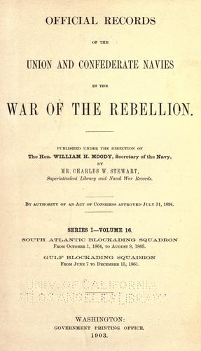 Download Official records of the Union and Confederate navies in the war of the rebellion