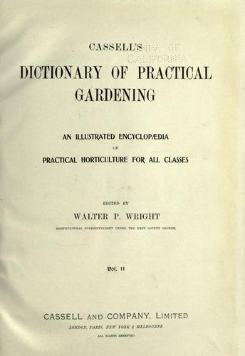 Download Cassell's dictionary of practical gardening