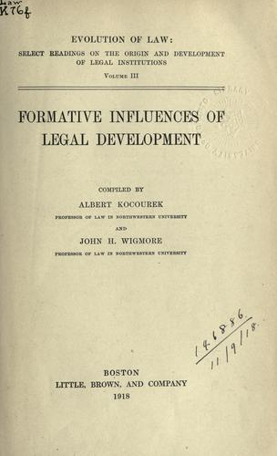 Formative influences of legal development.