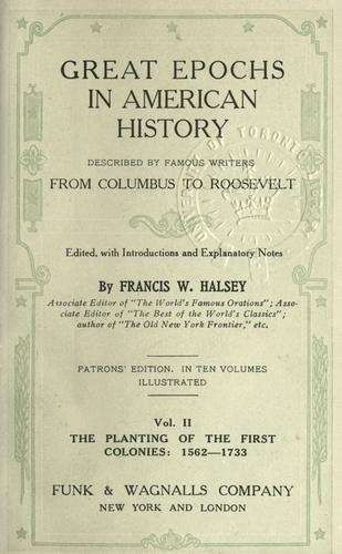 Download Great epochs in American history