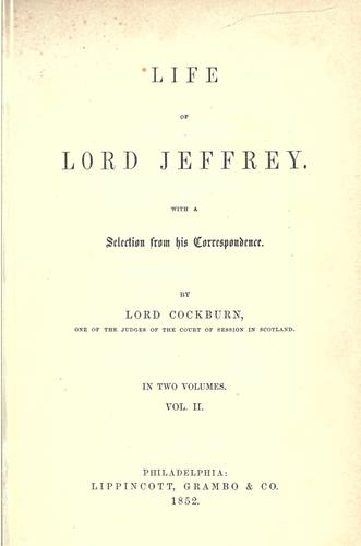 Download Life of Lord Jeffrey.