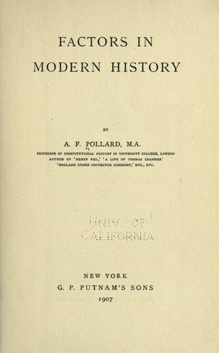 Download Factors in modern history