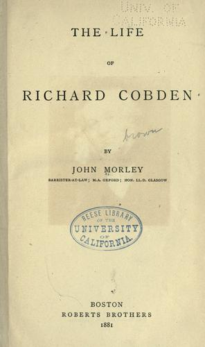 Download The life of Richard Cobden