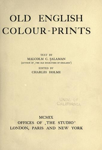 Download Old English colour prints