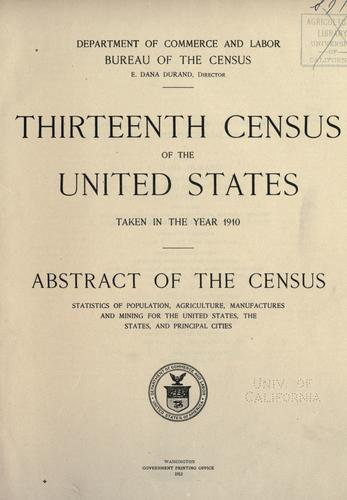 Download Thirteenth census of the United States taken in the year 1910.