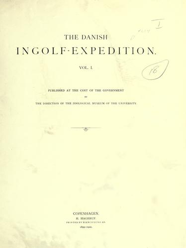 Download The Danish Ingolf-expedition.