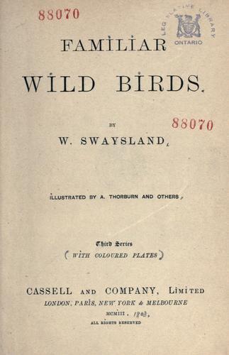 Download Familiar wild birds
